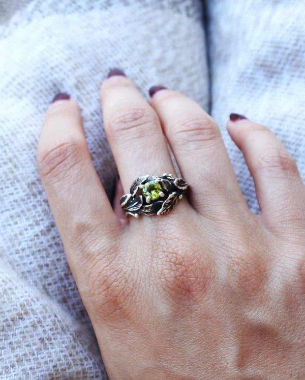 anello foglie alloro