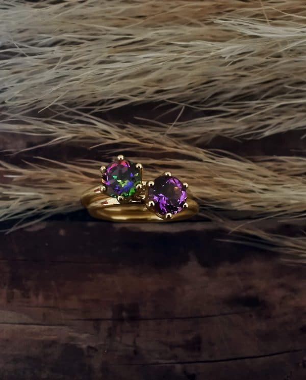 anello con pietra oro | sepi gioielli